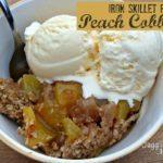 Rustic Peach Cobbler
