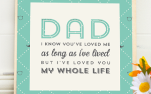Printable Quote for Father's Day