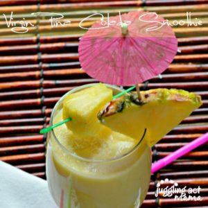 Virgin Pina Colada Smoothie recipe - Juggling Act Mama