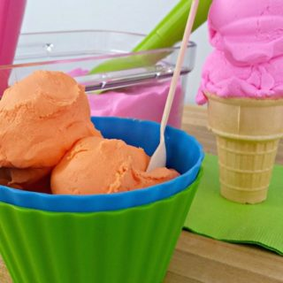 Watermelon & Creamsicle Ice Cream Play Dough - Juggling Act Mama
