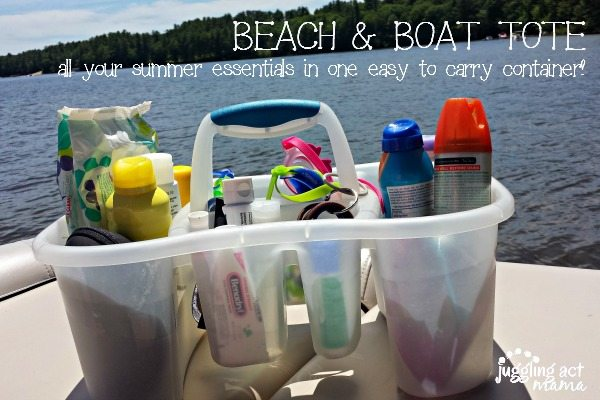 Beach & Boat Tote - all your summer essentials in one easy to carry container!