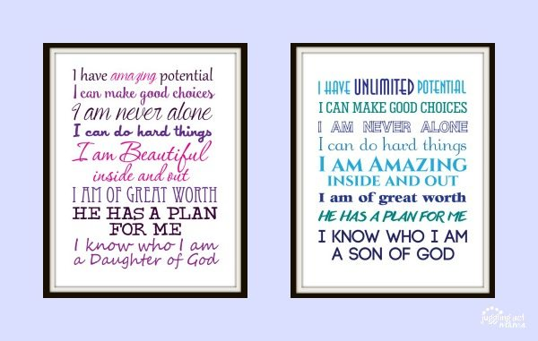 Christian Printables Daughter & Son of God Free Downloads