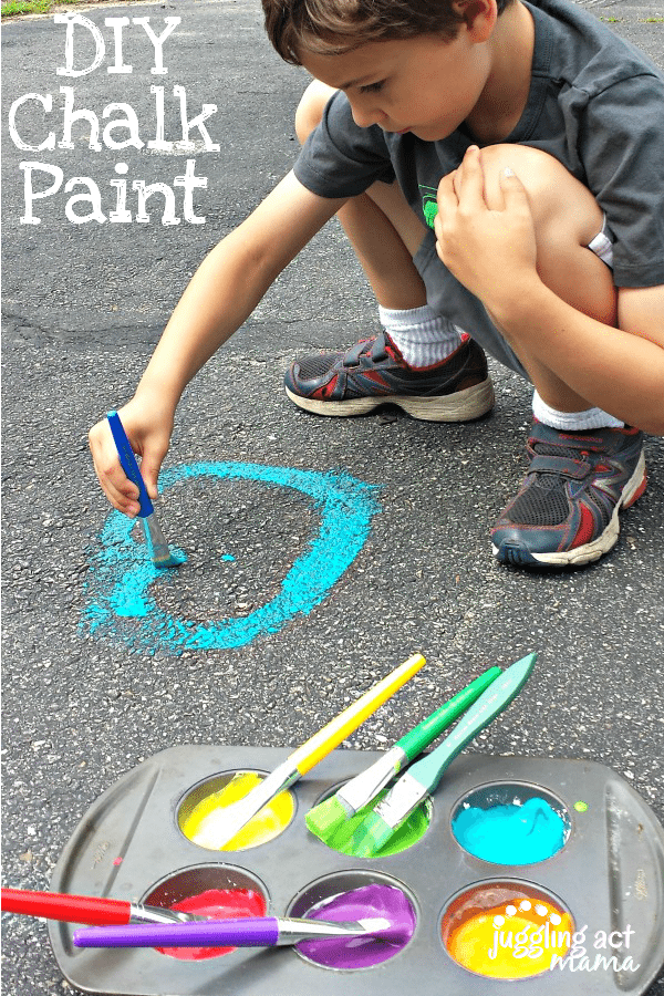 DIY Chalk Paint - find out how to make it at www.jugglingactmama.com