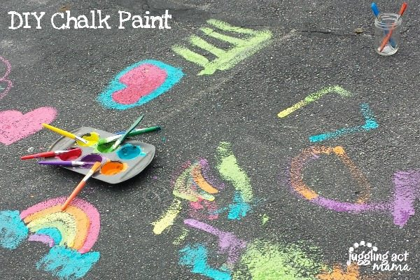 DIY Chalk Paint - messy summer fun for all!