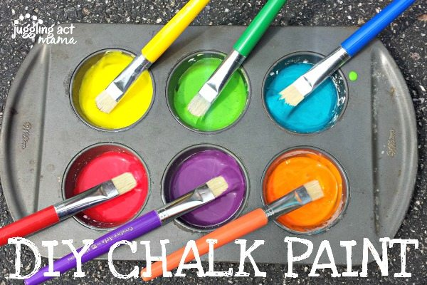 DIY Chalk Paint - super easy summer fun!