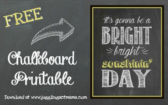 Download this Sunshin' Day free printable from Juggling Act Mama