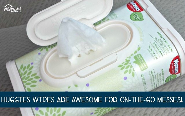 Huggies Wipes are great for cleaning up on-the-go messes