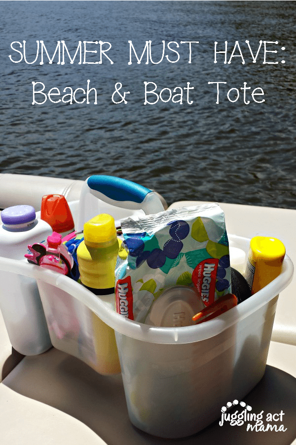Beach and Boat Tote with items needed to protect you from the sun.