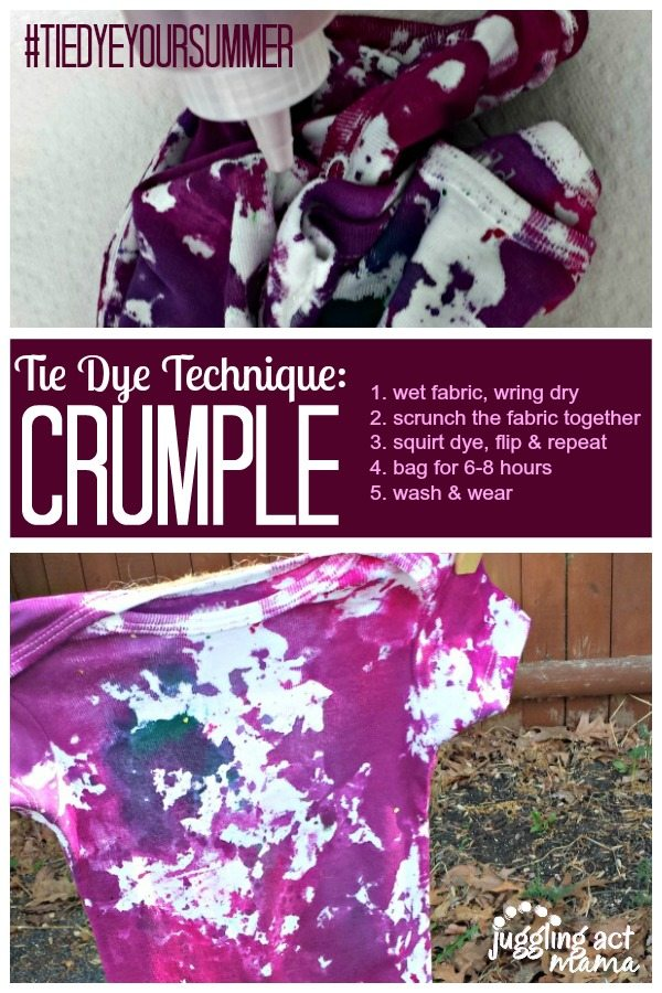 Tie Dye Technique Crumple