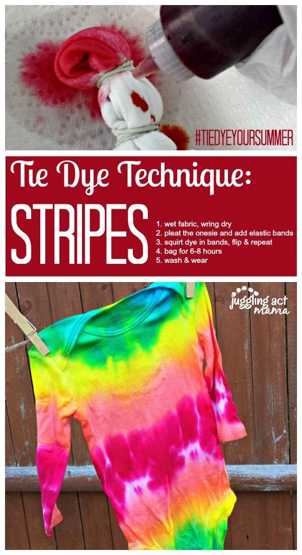 Tie Dye Technique Stripes
