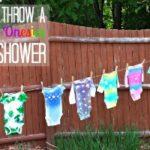 Summer Baby Shower with Tie Dye Onesies