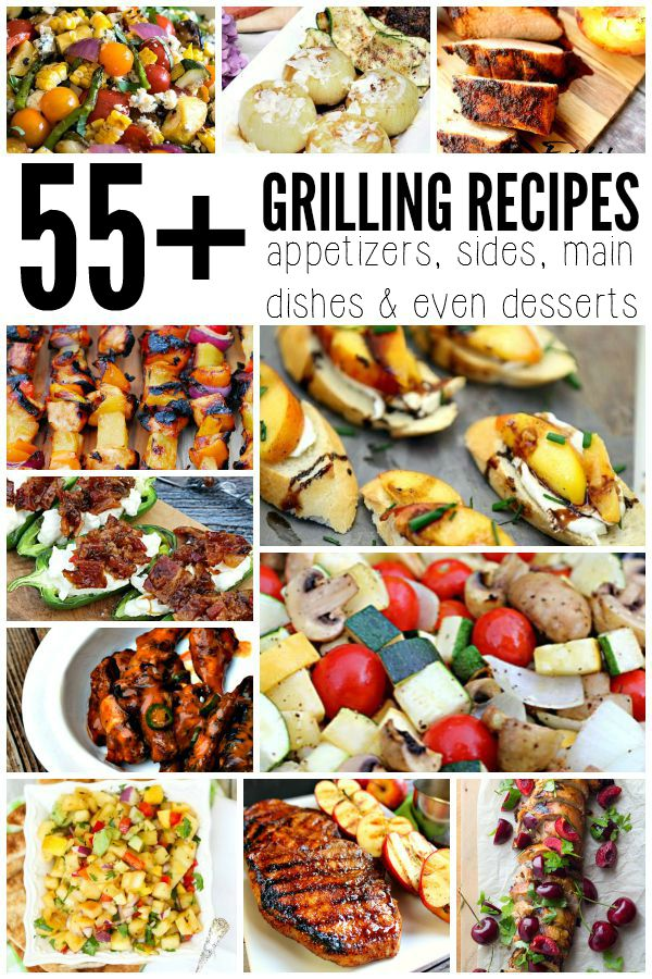55+ Grilling Recipes - get all the links at Miss Information Blog