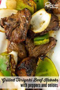 Grilled Teriyaki Beef Kabobs recipe