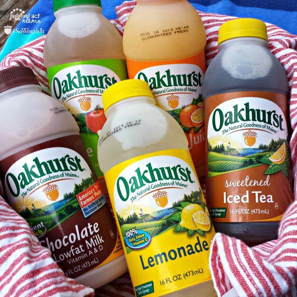 Oakhurst Single Serve juices, teas and milks are great for beach and picnic days