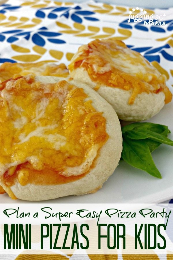Plan a Super Easy Pizza Party with Mini Pizzas Juggling Act Mama