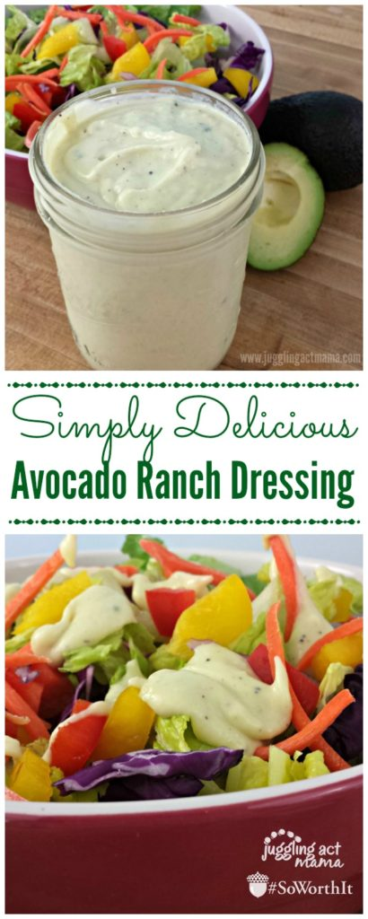 Simply Delicious Avocado Ranch Dressing