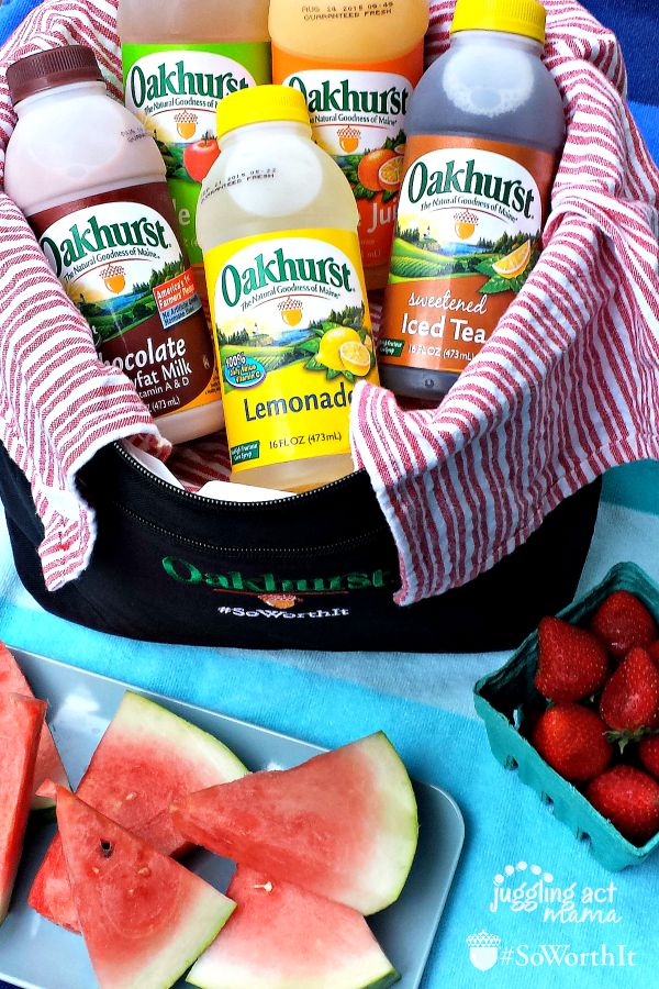 What to pack for the beach - Take Oakhurst bottles and healthy snacks