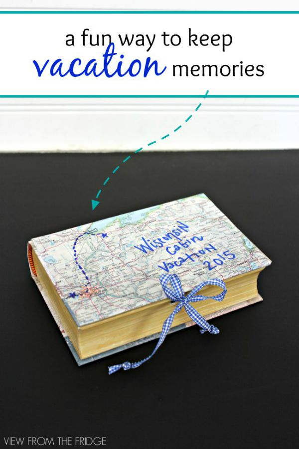 DIY Memory Box - a fun and easy way to store vacation souvenirs and memories