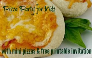 Make Your Own Mini Pizza Party