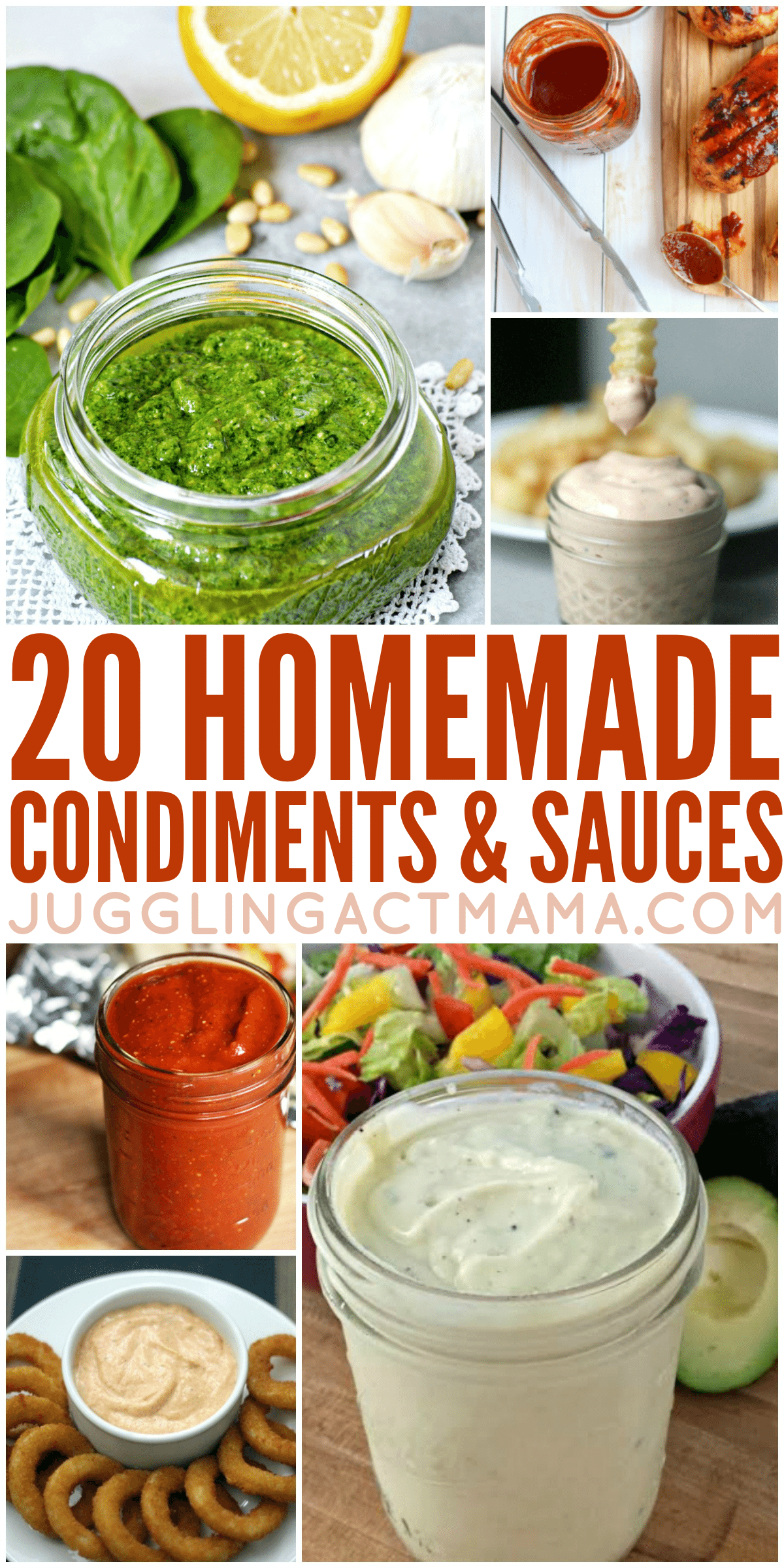We've got loads of Condiments and Sauces you can make at home. You'll love this collection of tasty recipes! via @jugglingactmama