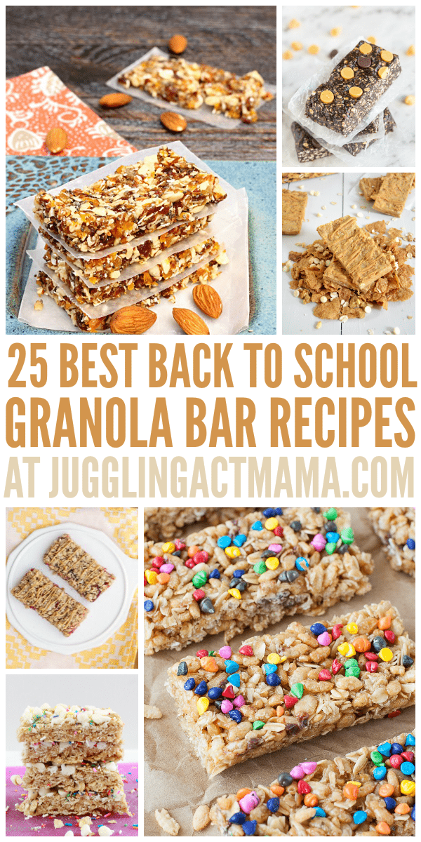 25 Best Back to School Granola Bar Recipes - Juggling Act Mama