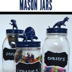 DIY Back To School Dinosaur Mason Jars