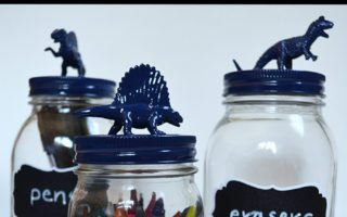DIY Back To School Dinosaur Mason Jars