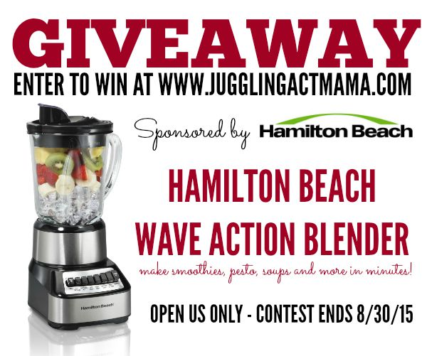 Hamilton Beach Wave Action Blender Giveaway at Juggling Act Mama