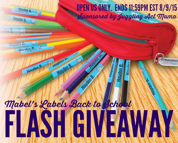 National Book Lovers Day and Mabel's Labels Flash Giveaway