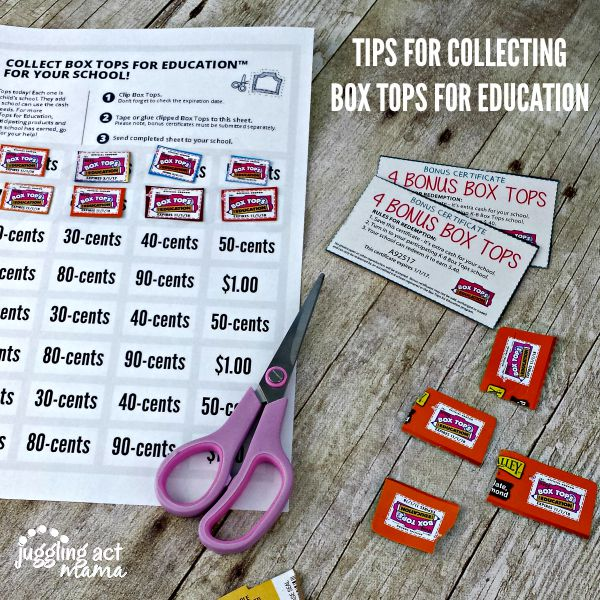 TIPS FOR COLLECTING BOX TOPS FOR EDUCATION