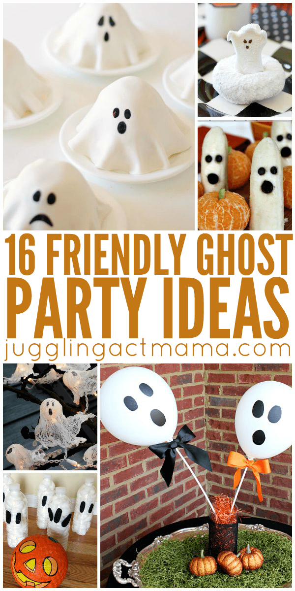 Cute Ghost Party Ideas for little ones including recipes, crafts, decorations and more!