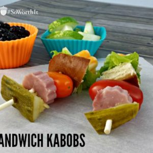 Easy Ham and Chese Sandwich Kabobs