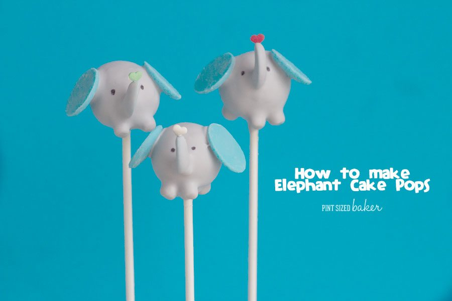 Here's an Elephant Cake Pop Tutorial that is easy to follow so you can make them at home. Your little ones will love personalizing them!