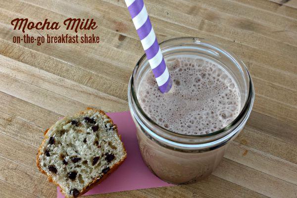 Mocha Milk on-the-go- breakfast shake