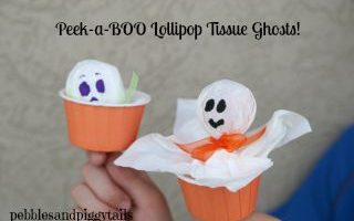 Peek-a-boo Lollipop Ghost
