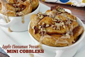 Mini Apple Cinnamon Pecan Cobbler