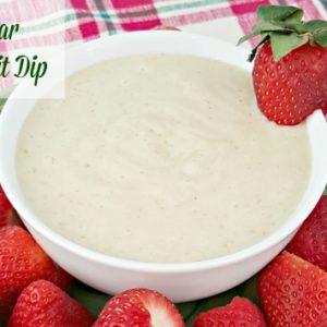 Brown Sugar Yogurt Fruit Dip