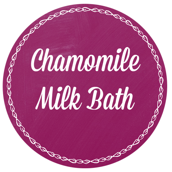 Chamomile Milk Bath - printable label
