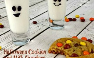 Halloween Cookies and Milk Shooters + Party Printables