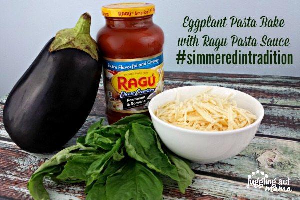 Eggplant Parmigiana Pasta Bake with Ragu Pasta Sauce