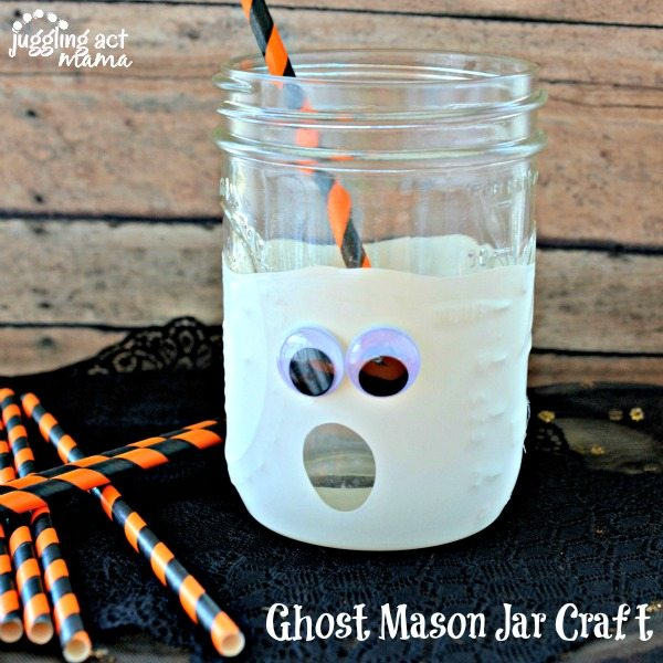 Ghost Mason Jar Craft - Juggling Act Mama