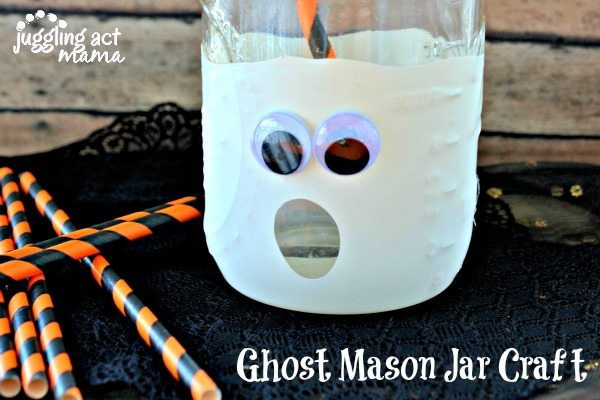 Ghost Mason Jar Craft - a fun Halloween craft!