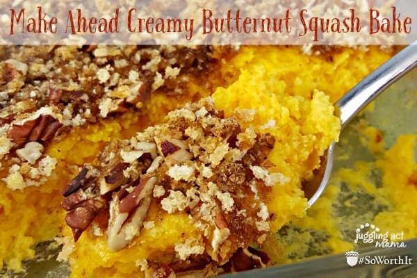 Make Ahead Creamy Butternut Squash Bake