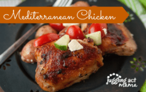Mediterranean Chicken Thighs Sheet Pan Dinner
