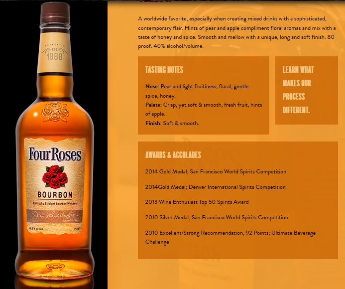 About the Four Roses Yellow Bourbon
