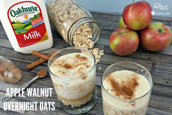 How to Make Overnight Oatmeal: Apple Overnight Oats with Chopped Walnuts Recipe