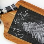 Cutting Board Chalkboard Art