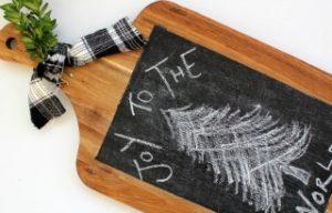 Cutting Board Chalkboard Art
