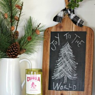 Fun Holiday Craft ... Cutting Board Chalkboard Art | View From The Fridge for Juggling Act Mama