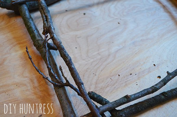 Rustic Twig Frame DIY Huntress